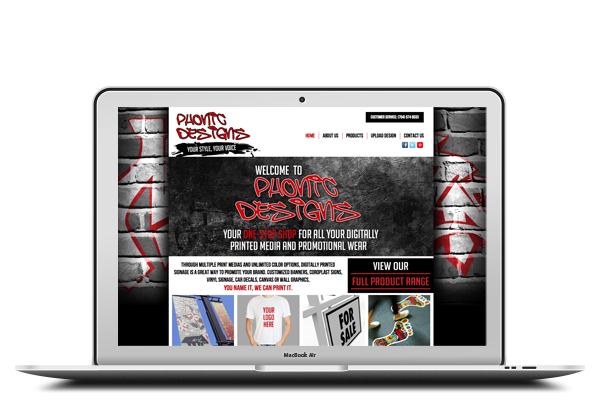 Phonic Designs - Website Design