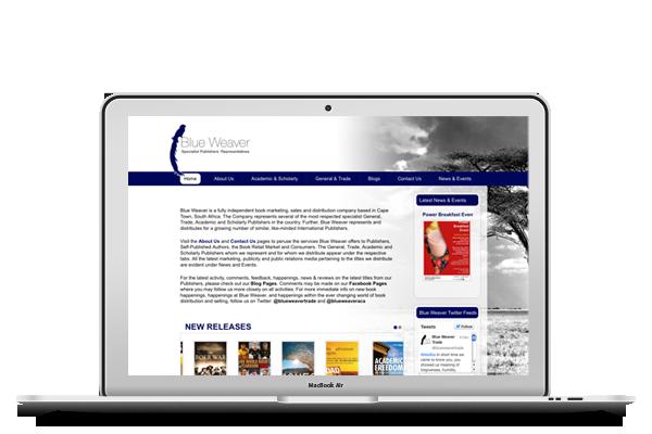 Blue Weaver - Website Design